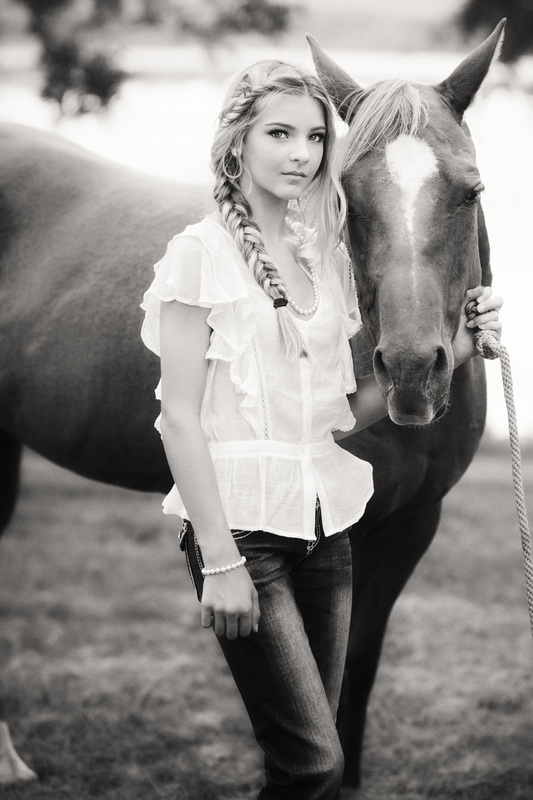 Senior Portraits With Horses in Forney, Texas