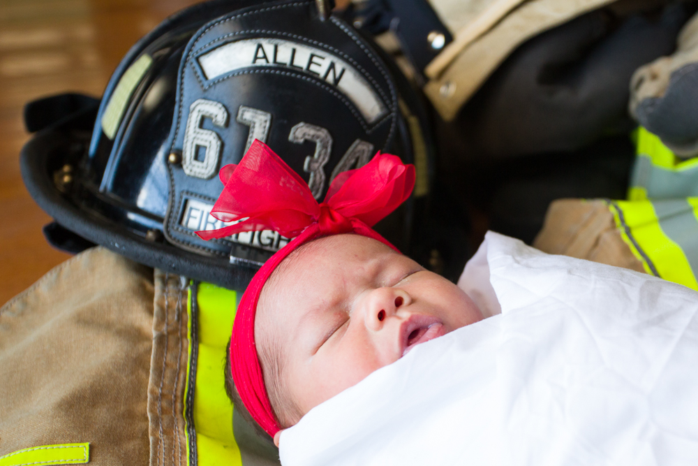 Fire Fighter baby photos